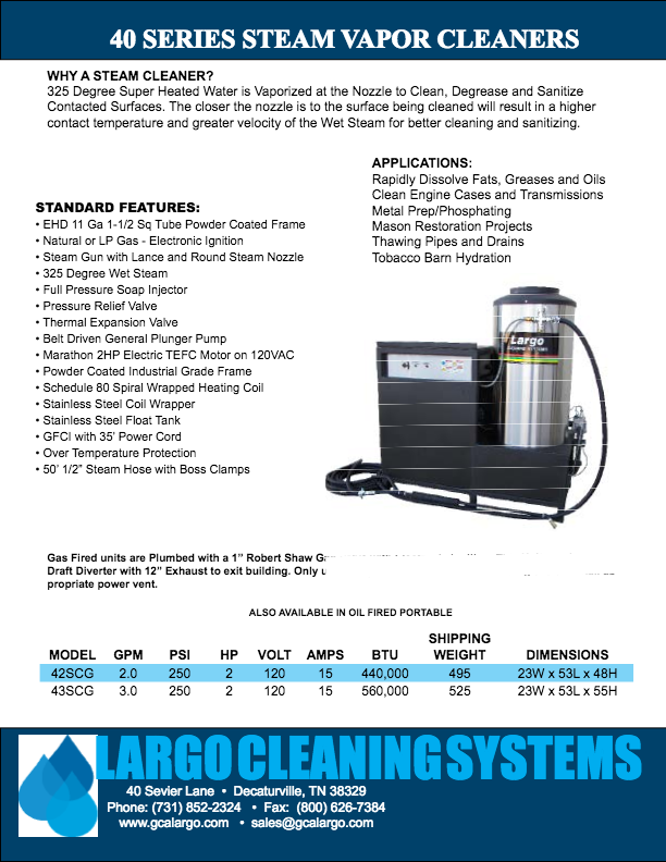 Steam Cleaners - Pressure Washers and Cleaning Systems by