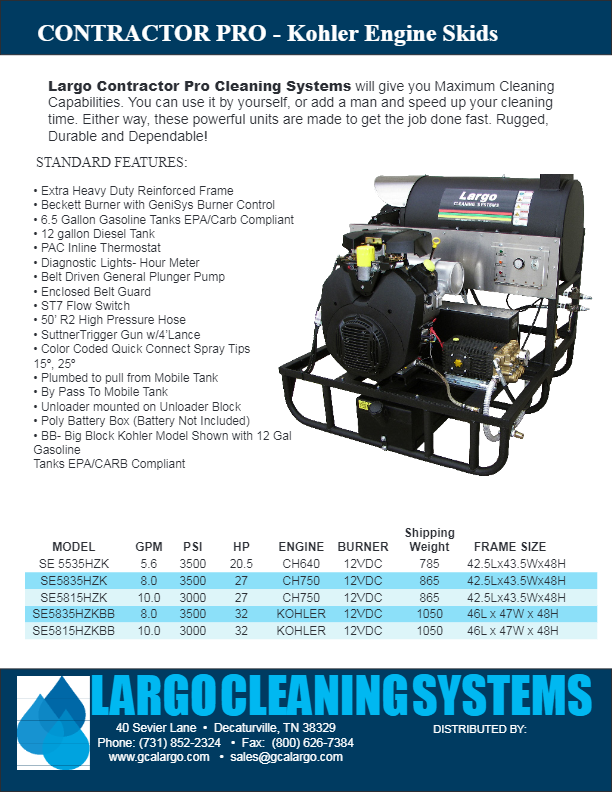 Hot Water Skids - Pressure Washers and Cleaning Systems by GCA Largo